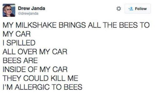 bees,milkshake