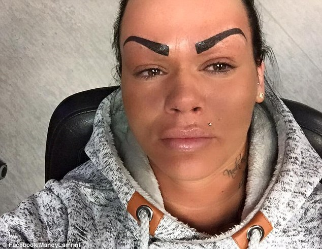 fashion FAIL eyebrows tattoos Ugliest Tattoos - 8607818752