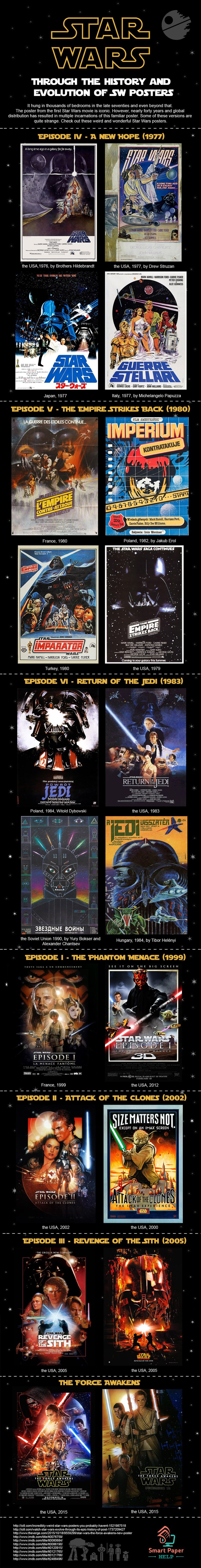 scifi star wars movies infographic - 8607842816