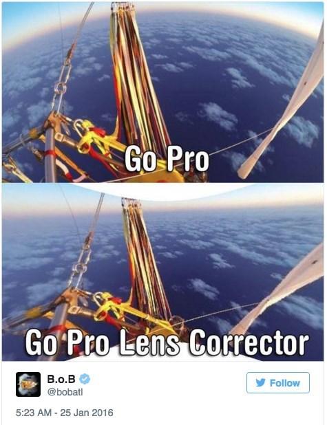 Sky - Go Pro Go Pro Lens Corrector B.o.B Follow @bobatl 5:23 AM - 25 Jan 2016