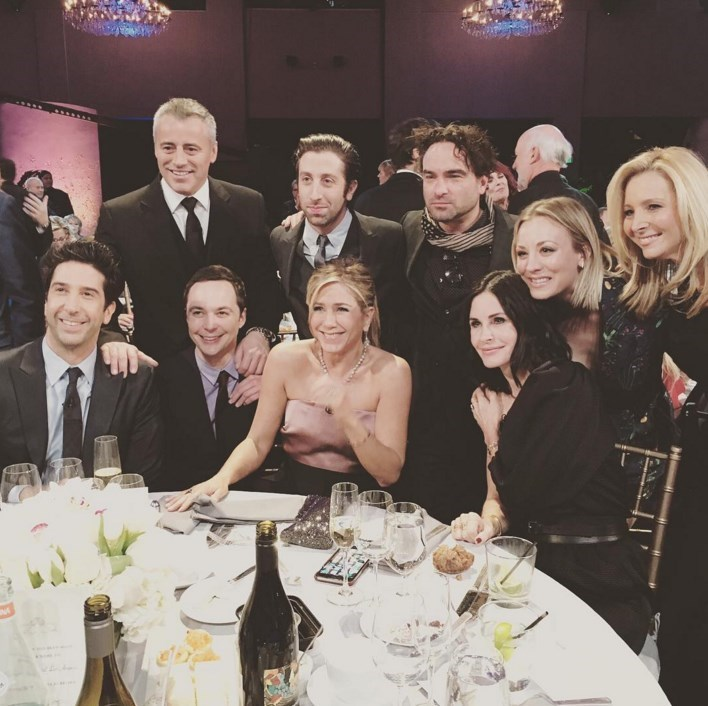 friends reunion image This Picture of the Cast of Friends Reunion Will Tide You Over Until Your Next Hit of Nostalgia