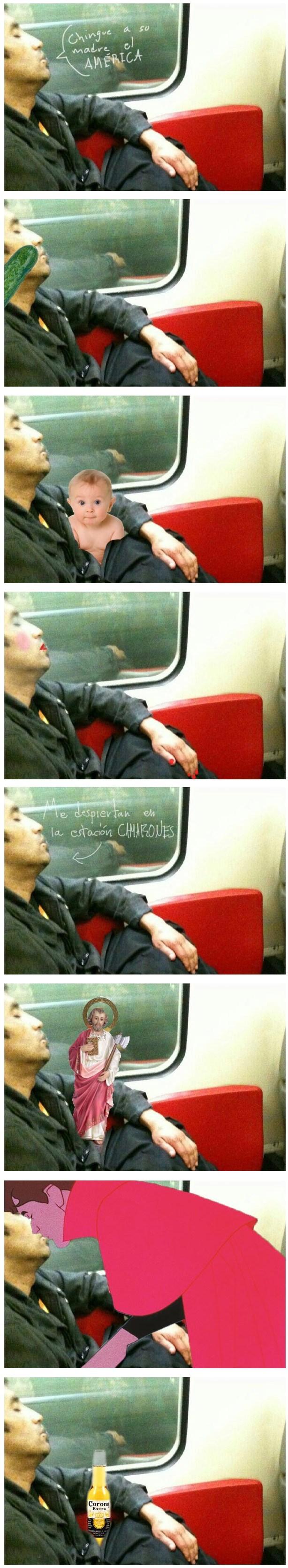 duerme en metro