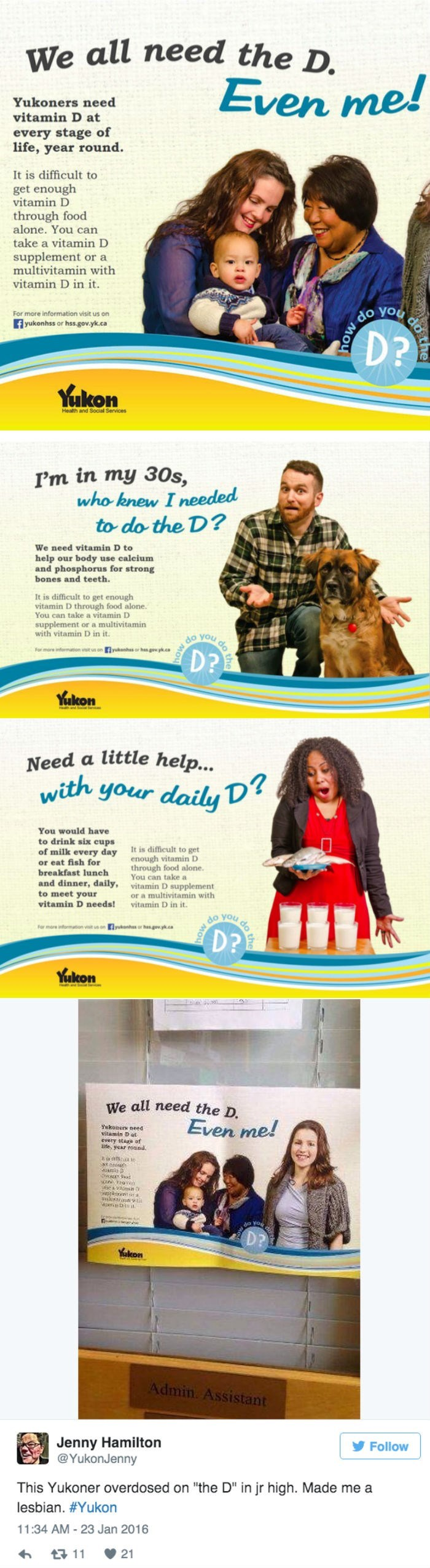 funny fail image Canadian vitamin campaign wants to make sure you're getting enough D