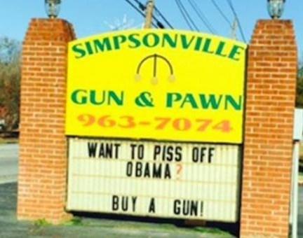 guns sign obama IRL - 8608052736