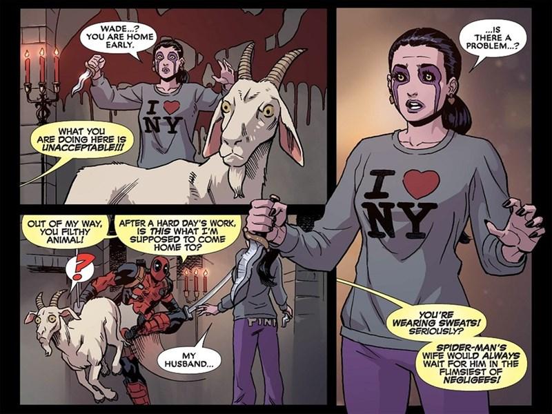 comics deadpool marriage - 8608191744