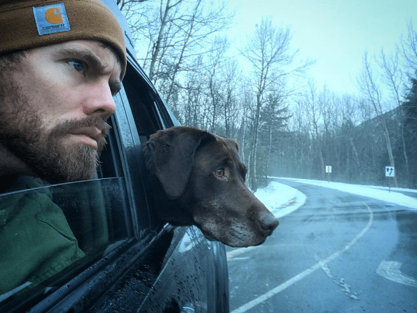 dogs labrador instagram marine happy ending cancer farewell road trip