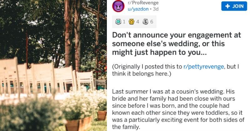 petty revenge, revenge story, reddit story, wedding,