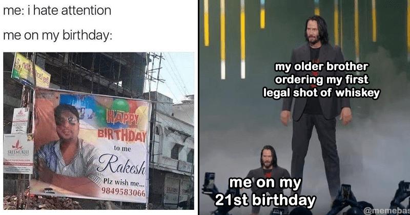 Happy birthday memes, funny birthday memes, keanu reeves.
