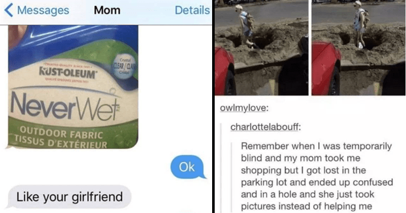 Funny moms, troll moms, texting with moms, parenting, mom memes | Details Mom Messages Crystal CLEAR/CLAIR Cristal KUST-OLEUM NeverWet OUTDOOR FABRIC TISSUS D'EXTERIEUR Ok Like girlfriend Lol | owlmylove: charlottelabouff: Remember temporarily blind and my mom took shopping but got lost parking lot and ended up confused and hole and she just took pictures instead helping