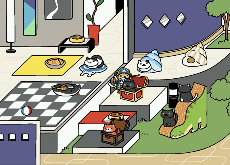 smartphone,neko atsume,update,video games,Cats