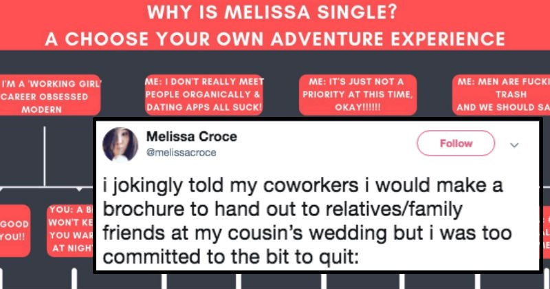 brochure by woman explaining why she's single