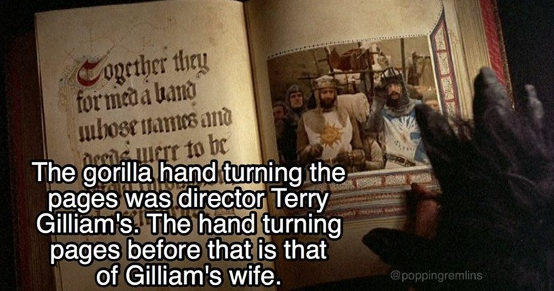 fact about monty python and the holy grail