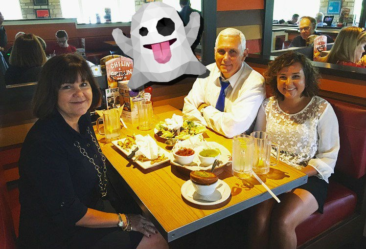 mike pence spooky chili's pic