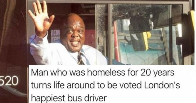 story about homeless man improving his life