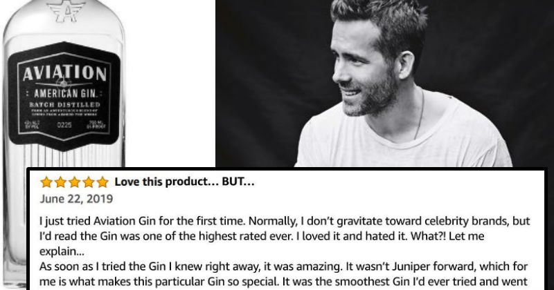 ryan reynolds leaves a review on his own gin brand