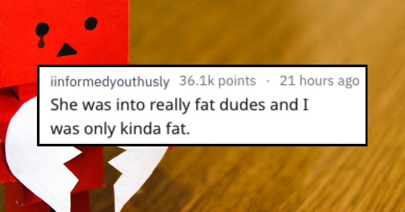 guy gets rejected for being too thin