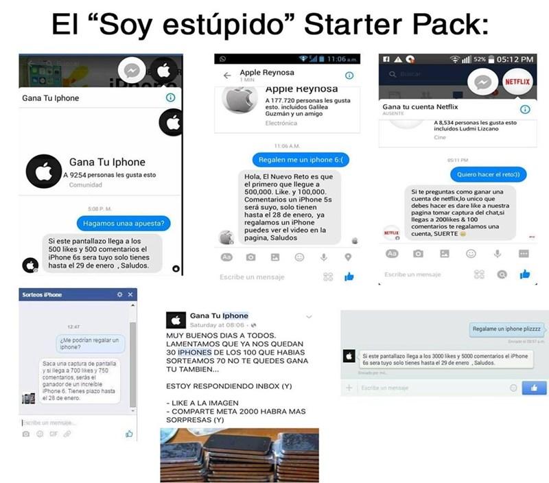 estupido starter pack