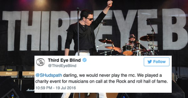 Third Eye Blind Gets Booed After Sounding Off at a GOP Concert