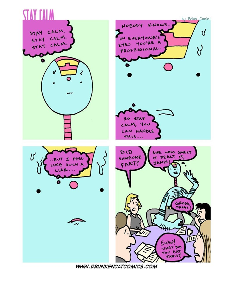 web comics anxiety work A Professional Always Knows How to Shift the Blame