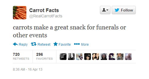 twitter vegetables real carrot facts tweets carrot facts carrots - 87045
