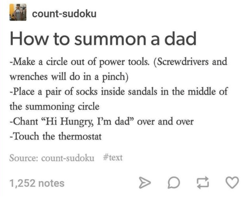 tumblr post about dad