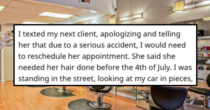hair customer service orange terrible dye salon hair style inconsiderate customers hair dye stylist car crash story - 8722693