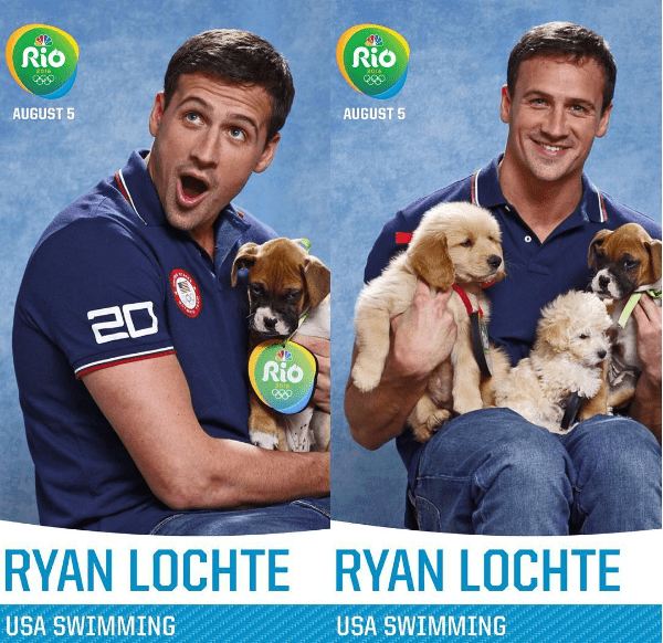 dogs puppies olympic games athletes Rio