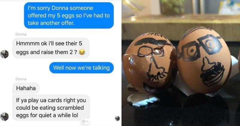 egg bidding war breaks out online