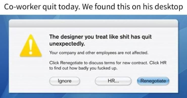 quit job funny style