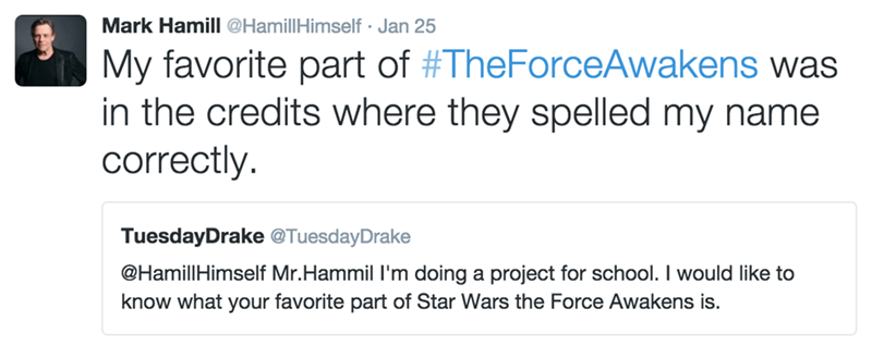 twitter star wars Mark Hamill - 8742194944