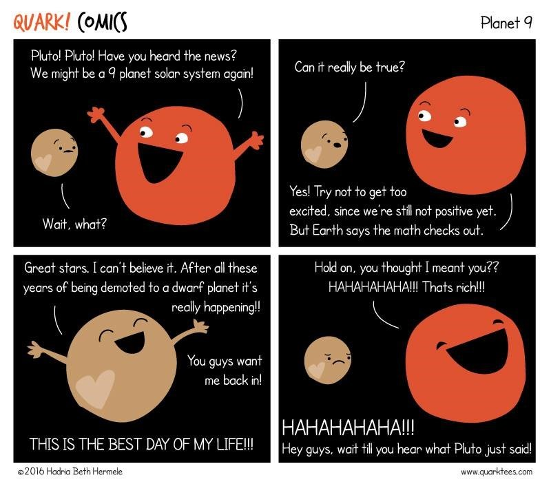 pluto,science,ninth planet,web comics