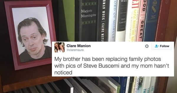 twitter list brother trolling steve buscemi parenting family sister pranks - 874245