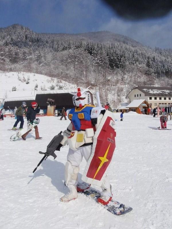 snowboarding gundam cosplay