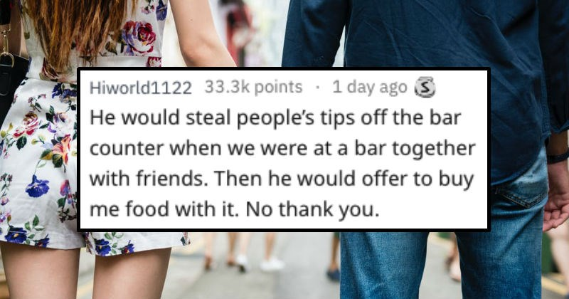 dating a guy who steals tip money