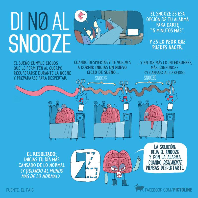 no al snooze