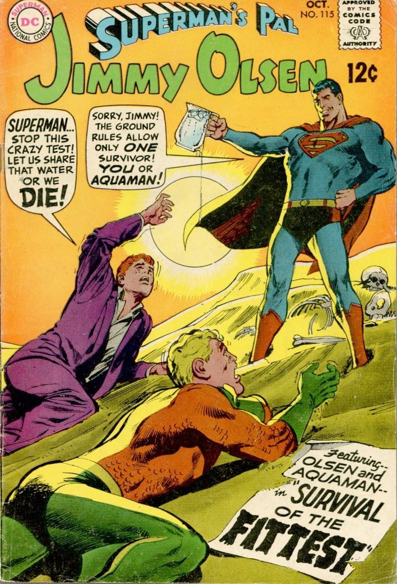 aquaman,jimmy olsen,superman
