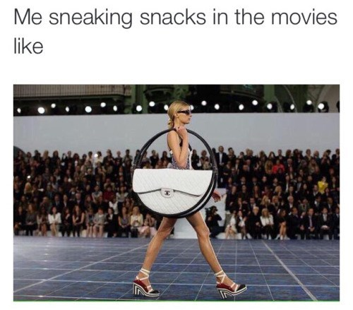 sneaking snacks into the movies like