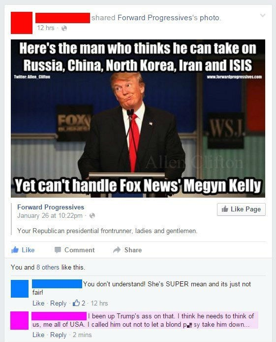 donald trump,facebook,Megyn Kelly,politics