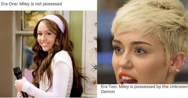 theory about a demon possessing miley cyrus and katy perry