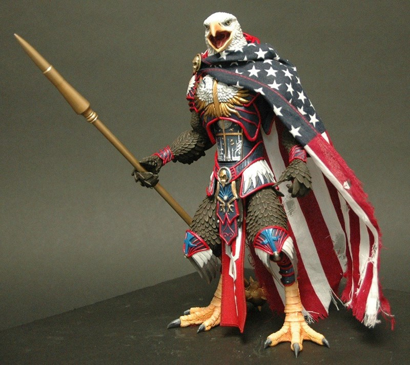 america,bald eagle,action figure