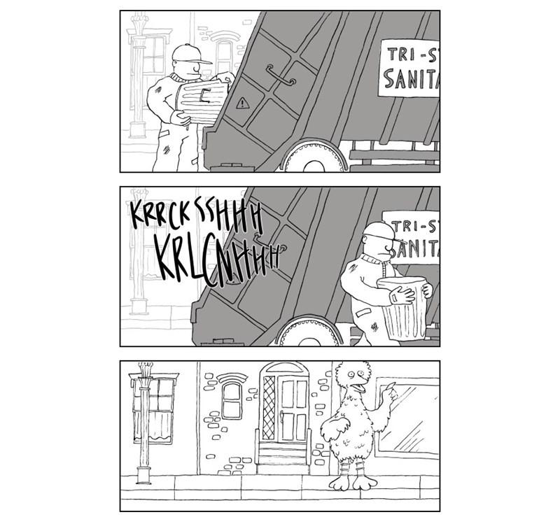 web comics oscar sesame street oh no