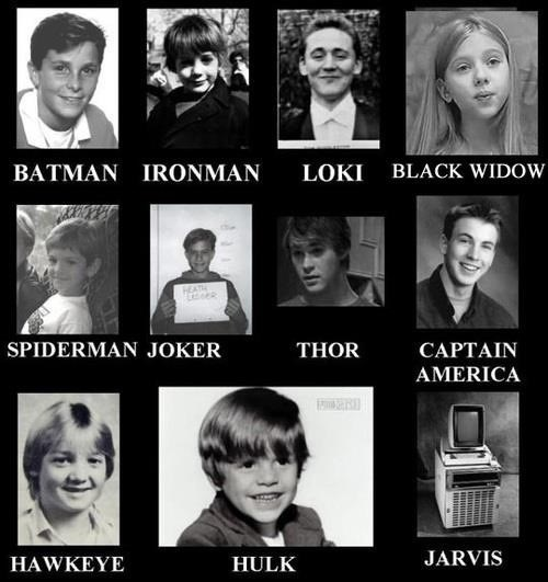 batman avengers Superheroes and Villains When They Were Just Kids