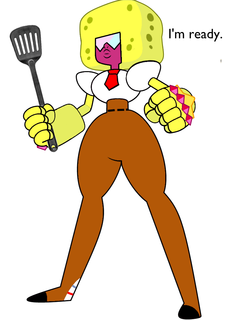 crossover cartoons SpongeBob SquarePants steven universe - 8746455040