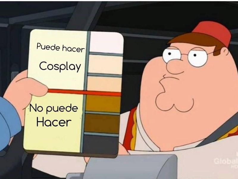 puede hacer cosplay