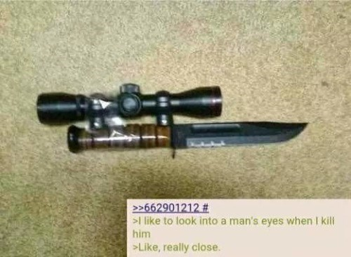 funny memes scope knife