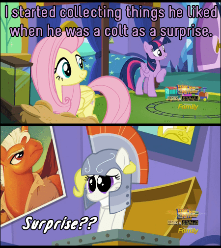 the one where pinkie pie knows twilight sparkle puns surprise fluttershy - 8746607616