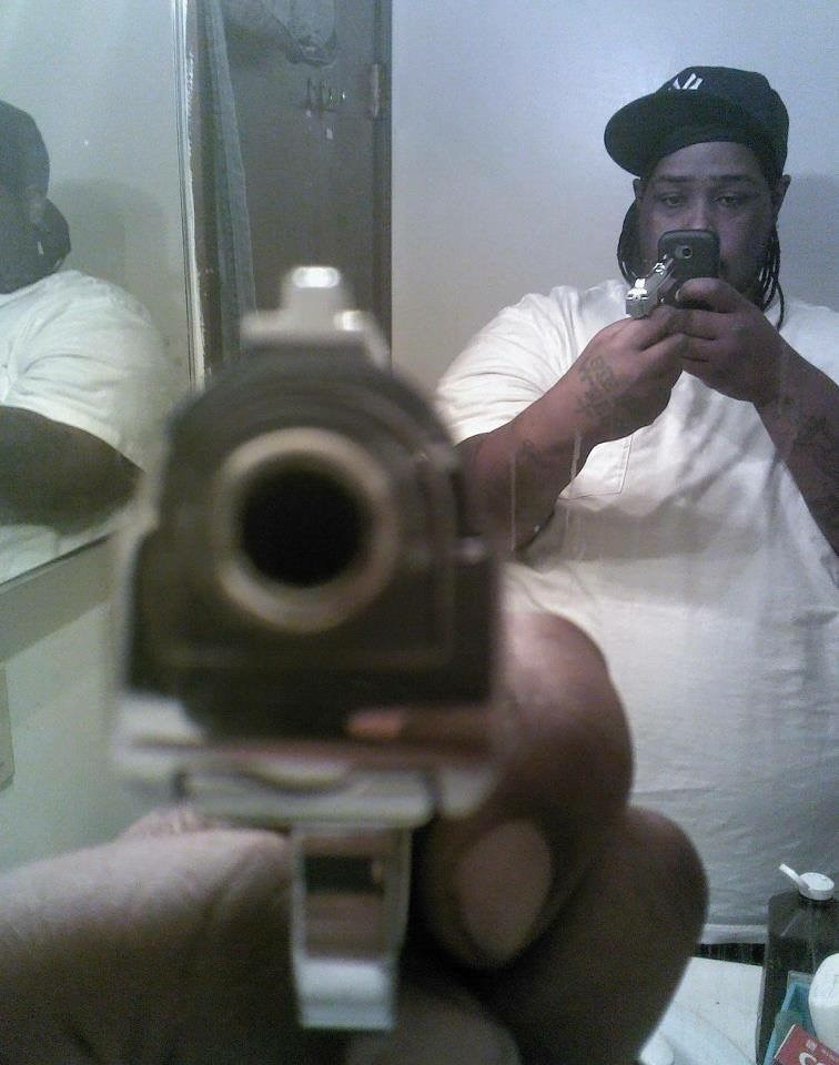FAIL mirror phone gun selfie