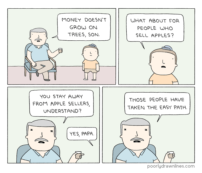 web comics apples money What About People Who Sell Oranges? or Pears?