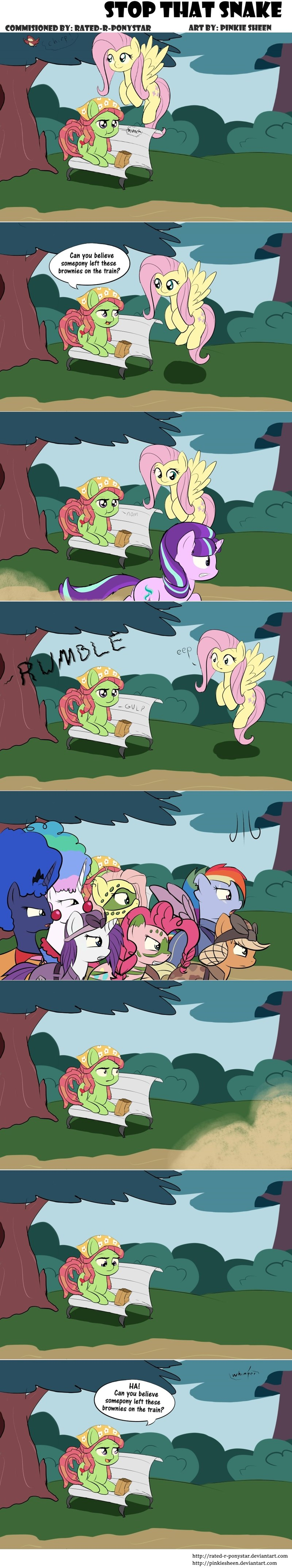 tree hugger applejack pinkie pie brownies princess luna rarity princess celestia fluttershy rainbow dash - 8746754048