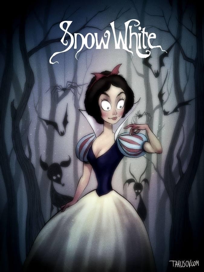 snow white tim burton fan art